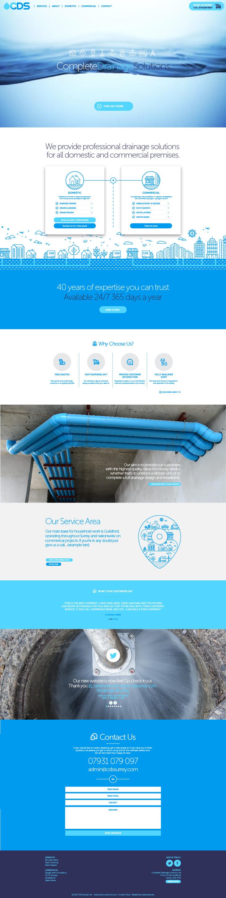 Website home page - drainage company