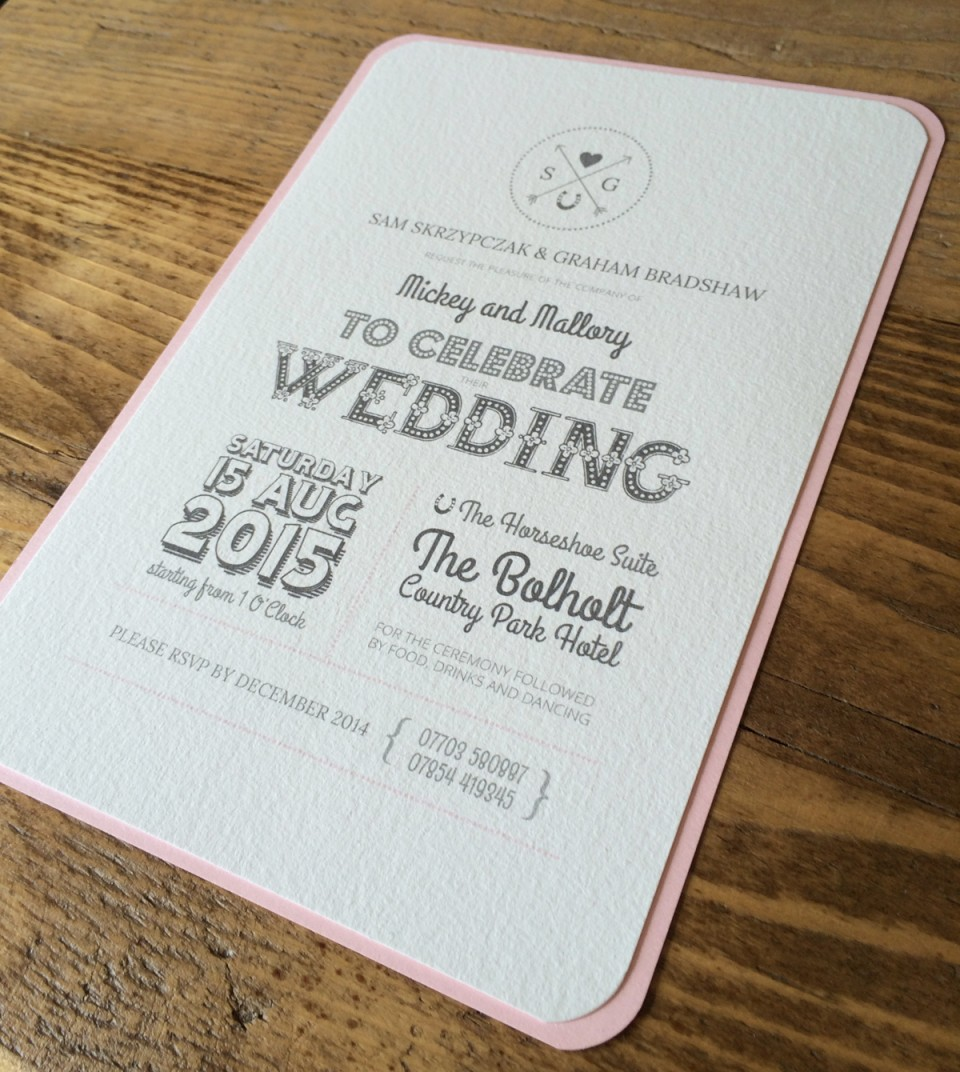 Bespoke Wedding Invitations design project by rainbowworks