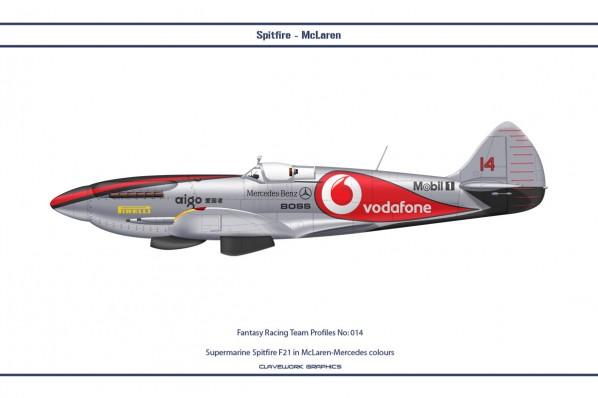 Supermarine Spitfire F21 in McLaren-Mercedes Formula One colours