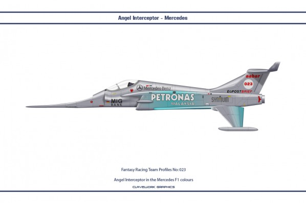 Angel Interceptor in the Mercedes F1 colours
