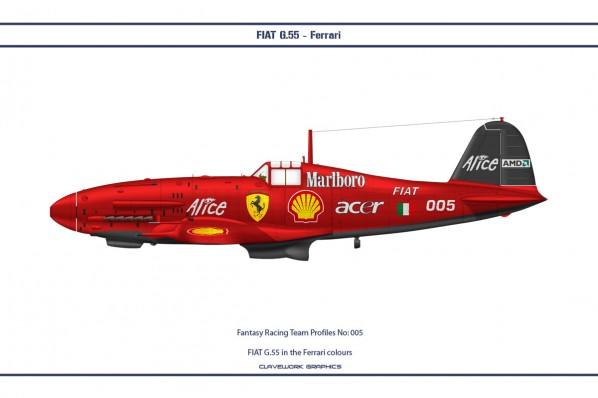 FIAT G.55 in the Ferrari colours