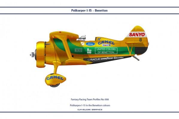 Polikarpov I-15 in the Benetton colours