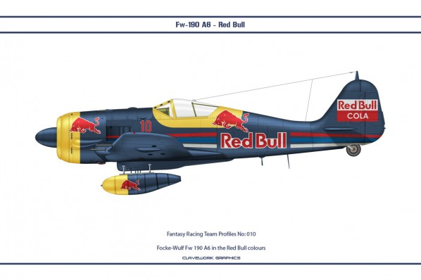 Focke-Wulf Fw 190 A6 in the Red Bull colours