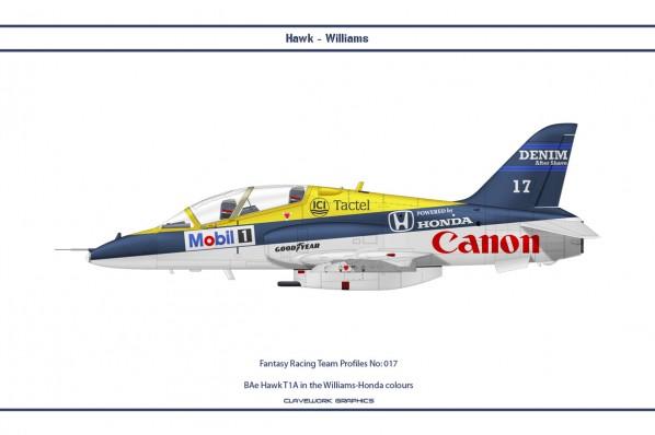 BAe Hawk T1A in the Williams-Honda Formula One colours