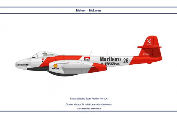 Gloster Meteor F.8 in McLaren-Honda colours