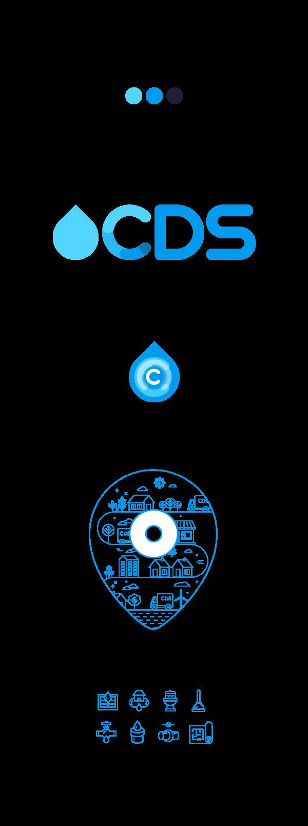 identity design graphics for drainage company