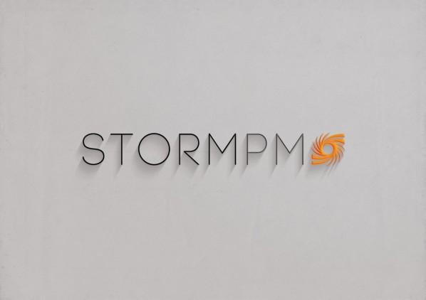 Logo Design Mockup with Long Shadow on Stone Background
