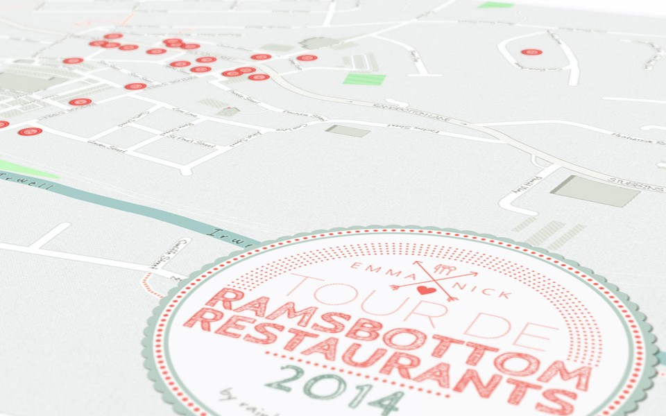 ramsbottom restaurants map poster close up 3