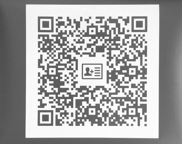 Vehicle Vinyl Vcard QR Code